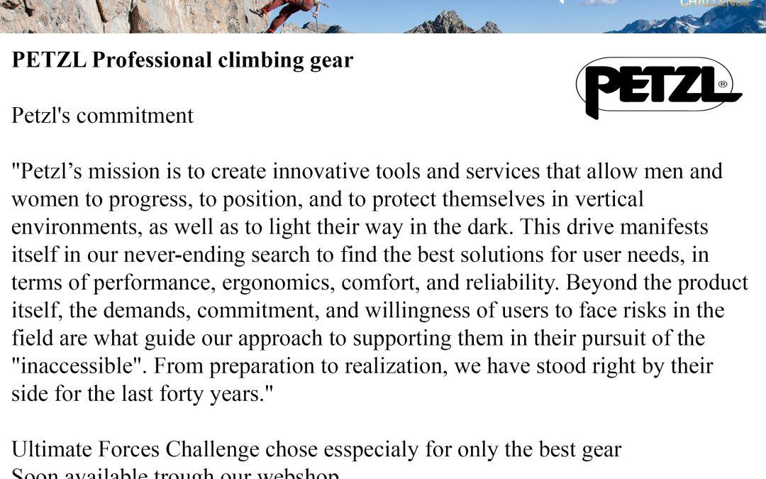 Petzl's professional climbing gear