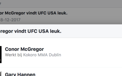 MMA fighter Conor McGregor great UFC fan
