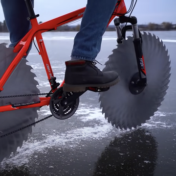 Meet the Icycycle, a Bike With Saws for Tires